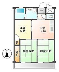 メゾン前田[3階]の間取り