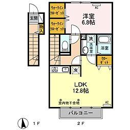 ディアレスト桜[205号室]の間取り