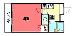 京都府京都市中京区聚楽廻西町の賃貸マンションの間取り