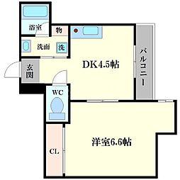 サニーハウス東梅田[3階]の間取り
