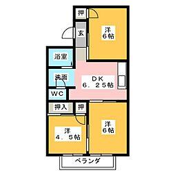 ダイワハイツ[2階]の間取り