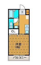 ダンテピア[2階]の間取り