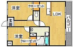 グランドール福川II[2階]の間取り
