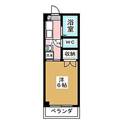 シャンブル21[3階]の間取り