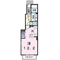 サンリット イースト III番館[1階]の間取り