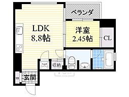 レギャン002 2階1LDKの間取り