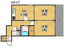 オーシャン住之江[7階]の間取り