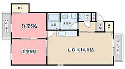 コーポ・元屋敷[302号室]の間取り