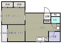 仙成ビル[5階]の間取り