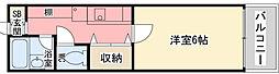 香櫨園桜ハイツ[1階]の間取り