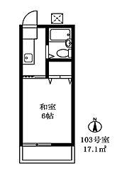 シャンブルシオンB棟[105号室]の間取り