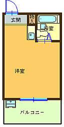 壱番館[201号室]の間取り