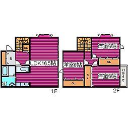 北海道札幌市東区北三十六条東5丁目の賃貸アパートの間取り