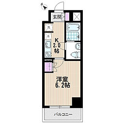 リヴシティ武蔵浦和[2階]の間取り
