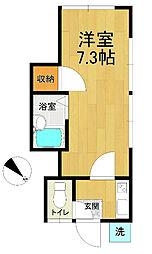 一松荘[205号室]の間取り