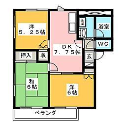 グリーンライフ一宮[2階]の間取り
