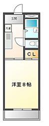 愛知県長久手市坊の後の賃貸マンションの間取り