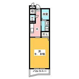 ベルハーモニー[3階]の間取り