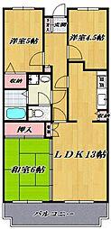 カサベルデ宮崎台[205号室号室]の間取り