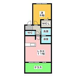 ピーノ・アーレC[1階]の間取り
