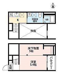 フェリス荒子(フェリスアラコ)[1階]の間取り