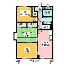 セレーノ天神館[1階]の間取り