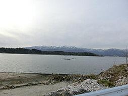 目の前が加茂湖