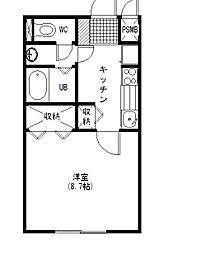 AXISマンション[2階]の間取り