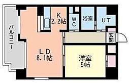 ヴィターレ[6階]の間取り