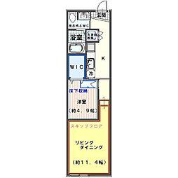 クオーレ七蔵[3階]の間取り
