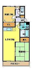 埼玉県さいたま市中央区本町東1丁目の賃貸マンションの間取り