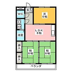 メゾン徳II[1階]の間取り