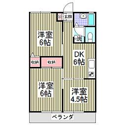ファミール東松山[105号室]の間取り