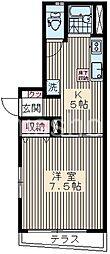東京都中野区鷺宮4丁目の賃貸マンションの間取り