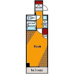 プレール月島RIVAGE[9階]の間取り