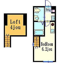 ハーミットクラブハウスマットーネII[2階]の間取り