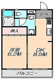 兵庫県神戸市灘区琵琶町1丁目の賃貸アパートの間取り