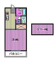 竹林コテージ第II[103号室]の間取り