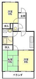メゾン・ド・ジュール[2階]の間取り
