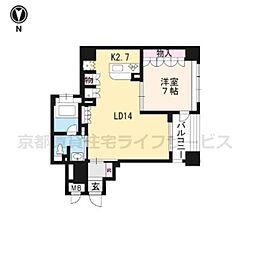 リーガル京都烏丸通604[6階]の間取り