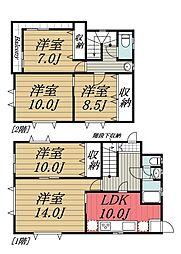 [一戸建] 千葉県佐倉市大崎台3丁目 の賃貸【/】の間取り