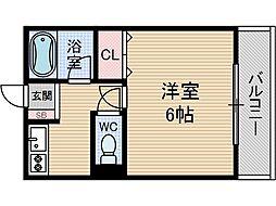 メゾネート筒井[1階]の間取り