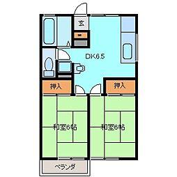 エポックエゲI[2階]の間取り