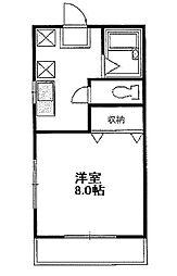 東京都小金井市緑町2丁目の賃貸アパートの間取り