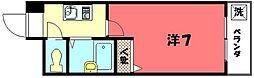 シェモア衣笠[203号室]の間取り