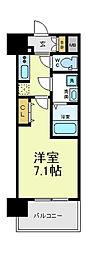 ミリアン四天王寺夕陽丘2[2階]の間取り