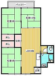 UR住吉団地[7-305号室]の間取り