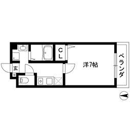 サンシャイン白菊[303号室]の間取り
