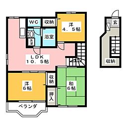 クレストール磯I[2階]の間取り