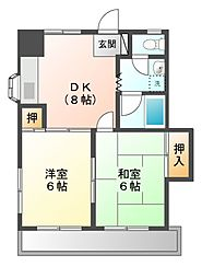 東京都日野市東豊田3丁目の賃貸アパートの間取り